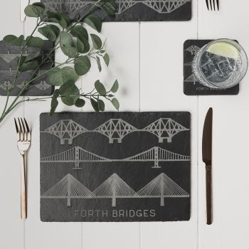 2 Forth Bridges Slate Place Mats