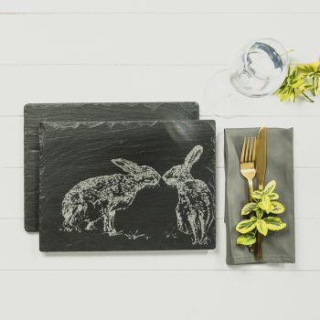 Small image of 2 Kissing Hares Place Mats