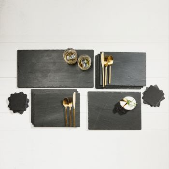 Main image of Medium Slate Gift Set Dinner setting for 6)