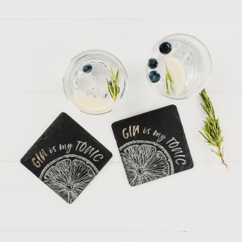 2 Gold Gin is my Tonic Coasters