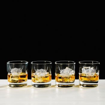 Highland Cow Engraved Glass Tumbler Gift Set (Set of 4)