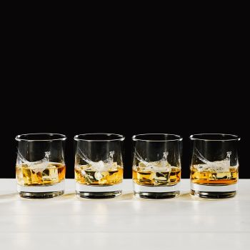 Pheasant Engraved Glass Tumbler Gift Set (Set of 4)