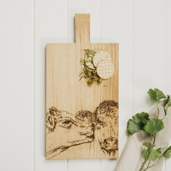 Buy Kissing Cows Large Oak Serving Paddle