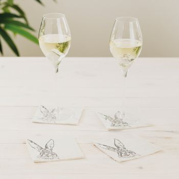 Main image of 4 Hare Linen Coasters