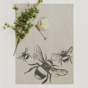 Main image of Bee Linen Tea Towel