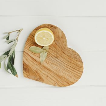 Heart Shaped Olive Wood Serving / Chopping Board