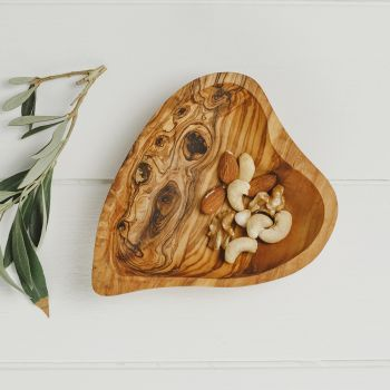 Heart shaped Olive Wood Serving Dish
