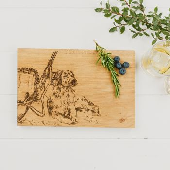 Gun Dog Oak Serving Board 30cm