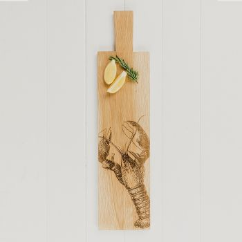 Long Lobster Oak Serving Paddle