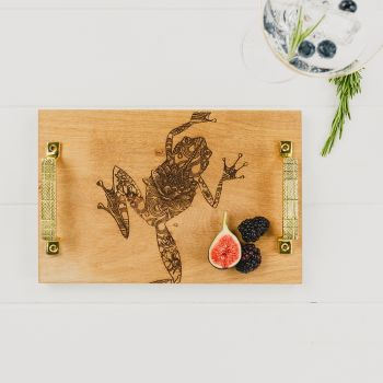 Patterned Frog Serving Tray