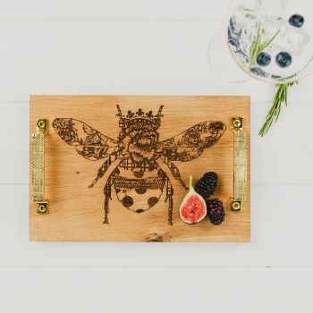 Patterned Queen Bee Serving Tray