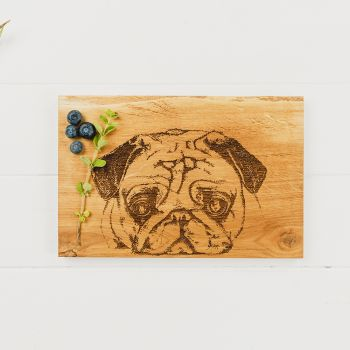 Oak Pug Serving Board  30cm by Scottish Made