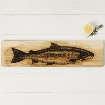 Oak Salmon Large Serving Platter by Scottish Made