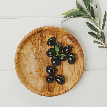 Round Olive Wood Serving Plates (15cm - 25cm)