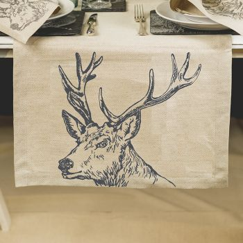 Main image of Stag Linen Table Runner