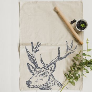 Main image of Stag Linen Tea Towel
