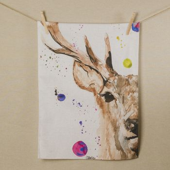 Main image of Stag Water Colour Tea Towel