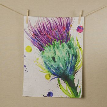 Main image of Thistle Water Colour Tea Towel