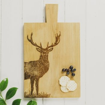Large Monarch Stag Serving Paddle
