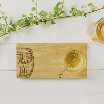 The Angel's Share Small Oak Serving Board