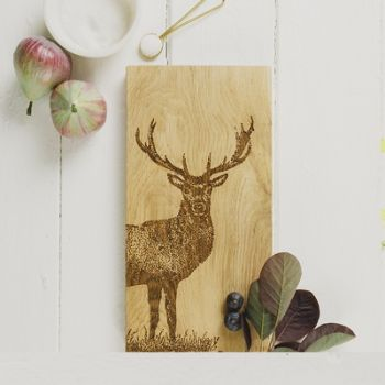 Monarch Stag Small Oak Serving Board