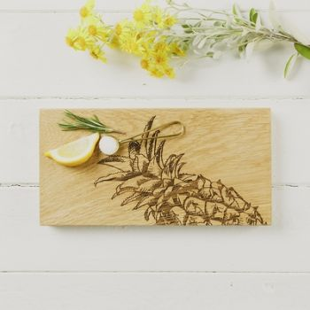 Pineapple Small Oak Serving Board