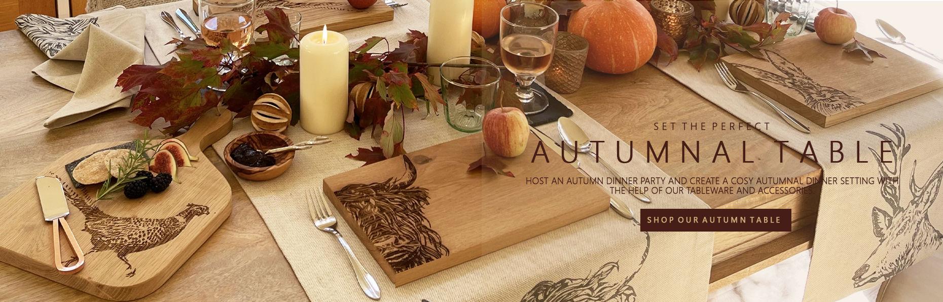 Create an Autumnal Table Setting